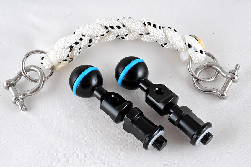 Lanyard-17cm& M10 strobe mounting ball set