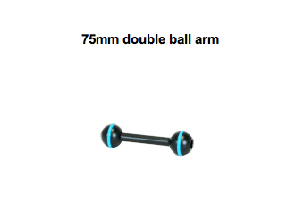75mm double ball arm