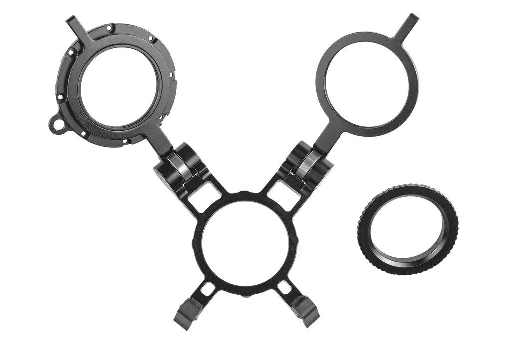Двойной раскладной держатель для линз MWL-1 и макро конвертеров