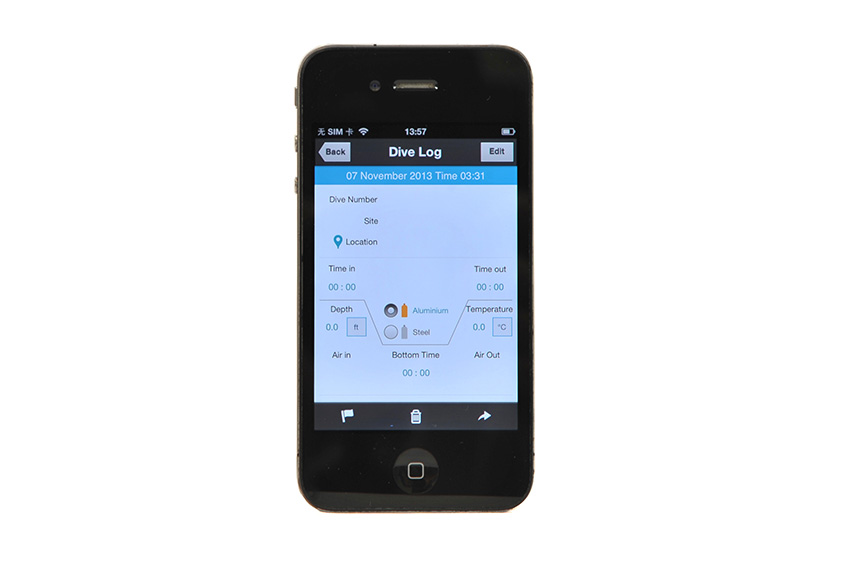 -Подводный бокс Nauticam для iPhone 4/4S/5 голубой